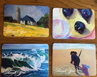 Art Notecard Sampler, Blank Card, Thank You Card, Original Art Notecards, Art Stationary, Greeting Cards, Painting Cards