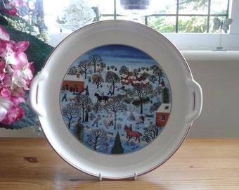 Villeroy and Boch Naif Christmas Cake/Christmas Pudding Plate