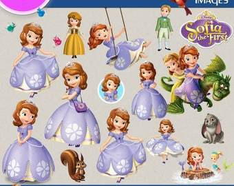 SOFIA THE FIRST clipart png images, Digital Cliparts, Stickers, Decals, Png file, Transparent Backgrounds, digital print, printable images
