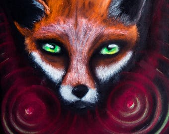 The Fox spirit - print 18 x 18 cm