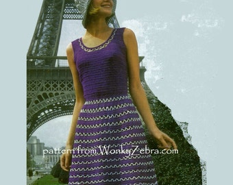 Vintage Crochet Dress and Hat Patterns PDF 699 from WonkyZebra