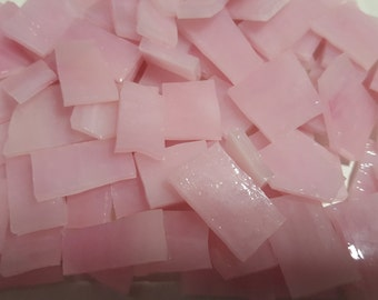 Mosaic Tile 25 PINK PINK Stained Glass Mosaic Tiles