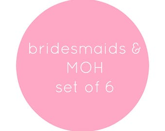 Bridesmaids & Maid of Honour Set / Bridesmaids Proposal Cards / Bridal Party Set