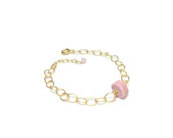 "Bracelet ""Ruby"" - stones and Vermeil"