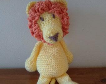 Lion soft toy, cuddly plush