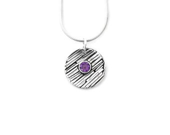 Amethyst Sterling Silver Pendant Necklace, February Birthstone Necklace, Amethyst Jewelry, Amethyst Pendant, Birthstone Jewelry