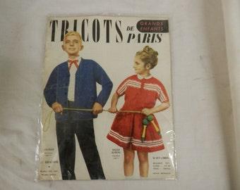 Free ship vintage TRICOTS DE PARIS catalog magazine book apparel clothing childrens fashion patterns