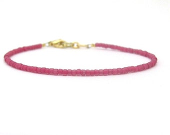 Friendship Bracelet, Rose Friendship Bracelet, Radiant Orchid bracelet, seed bead bracelet, beaded bracelet, Dainty bracelet, seed bead