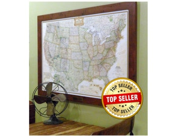 1st Anniversary Paper Personalized United States Push Pin Map