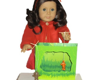 """Puppet Stage - Made to Fit American Girl / 18"""" Doll - DOLL ACCESSORIES - With 2 Mini Puppets!"""