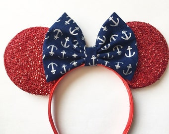 Nautical Anchor Disney Cruise Line Minnie inspired Ears