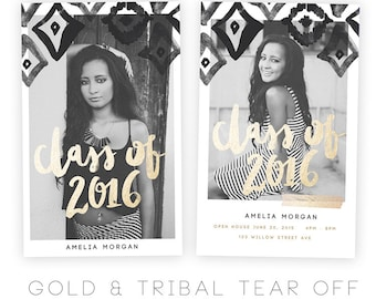 Gold and Tribal Tear Off Card