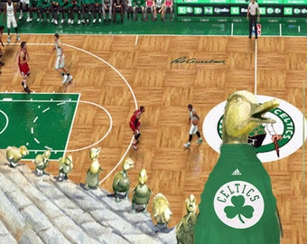 Ducklings at a Celtics Game