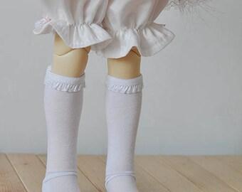 BJD SD or MSD size white socks