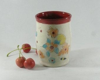Ceramic Wine Tumbler Toothbrush Holder Desk Accessories Tea cup Whiskey Glass Pen Holder Office Decor Anniversary Gift for Him