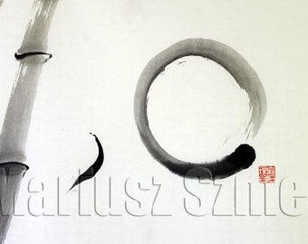 suibokuga SUMI-E painting art BAMBOO ZEN painting
