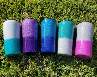 Your choice color (OMBRE) / brand / size glittered stainless steel tumbler, ozark or yeti