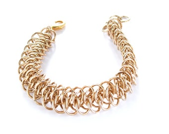 Jeweler's Brass Arkham Chainmaille Bracelet