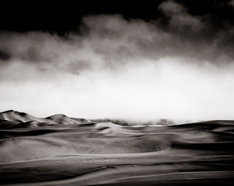 Desert Wall Art- Sepia Desert Landscape Photography Home Decor Fine Art Photography
