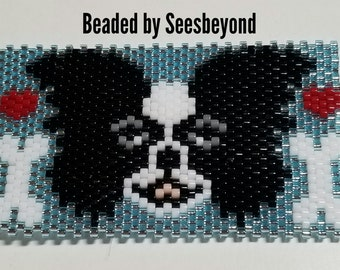Black and White Papillon! Beaded Pen Cover with G2 Metalic Blue Pen