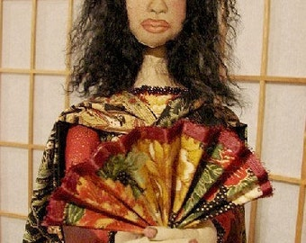Miyoshi-Art Ooak Doll-Japanese Inspired Art Doll   (made to order by request)