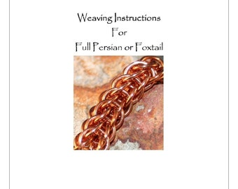 Instructions PDF Full Persian Chain Maille Bracelet Jewelry