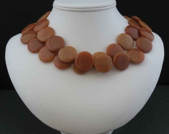 Red Aventurine Two Strand Necklace