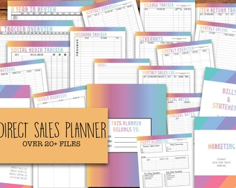 Small Business Planner, Printable Direct Sales Planner | LLR, Lula, Weekly & Monthly Planner, 2017 -2018 Calendar | INSTANT DOWNLOAD