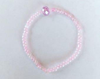 Petal pink bracelet