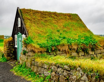 Icelandic Turf Home - Photographic Print