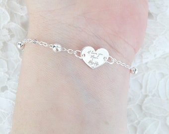 Bracelet with aluminum chain with beads