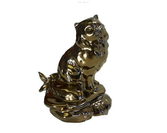 Glazed Persian Figurine/Ceramic Cremation Urn.