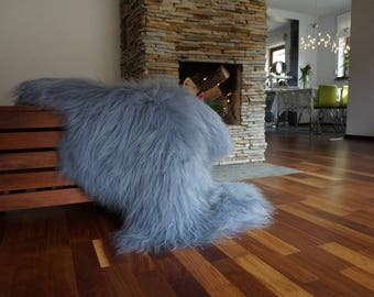 SHEEPSKIN Icelandic Grey Xxl Grey Rug Genuine Natural Sheepskin Rug Area Rugs Carpet Outdoor Rugs Cheap Rugs Shag Grey Area Rug Thro