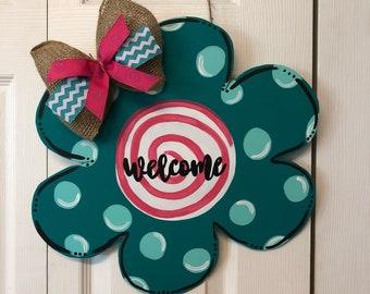 Welcome Flower Door Hanger