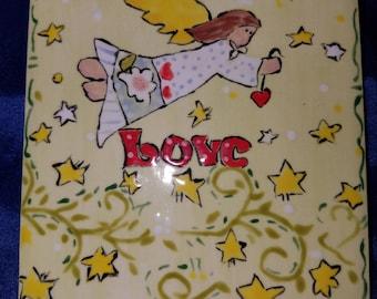 Love Angel 4 x 4 ceramic tile