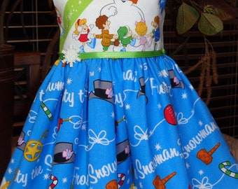 Frosty the Snowman Christmas dress fits 18 inch dolls including American Girl Doll