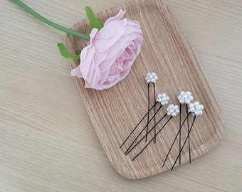 Free shipping,Set of 5 pearl Hair pins bridal hair pins wedding hair pins Gold Hair pins bridal hair set pearl wedding accessories