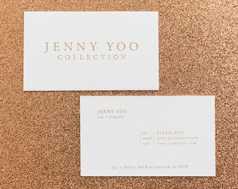 Foil business cards etsy gold foil letterpress business cards colourmoves Gallery