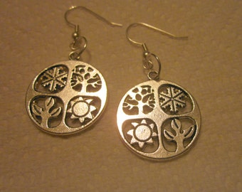 Four Seasons Silver Earrings