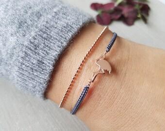 Bracelet Macrium Flamingo Rose gold Gift