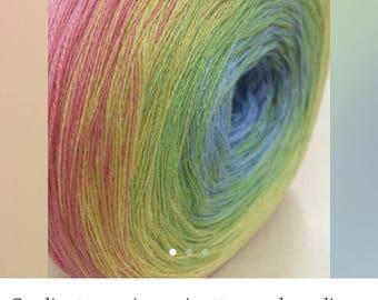 4 balls of degrade yarn