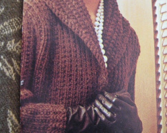 1960's Vintage Knitting Pattern Women's Coat 429 PDF Pattern