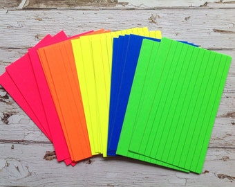index cards, fluorescent index cards, stationery, fluorescent stationery, note cards