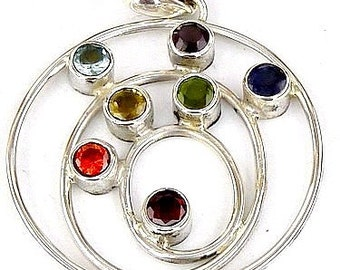 Jewelry 7 CHAKRA pendant chakra spiral jewel for reiki Crystal healing balancing f213
