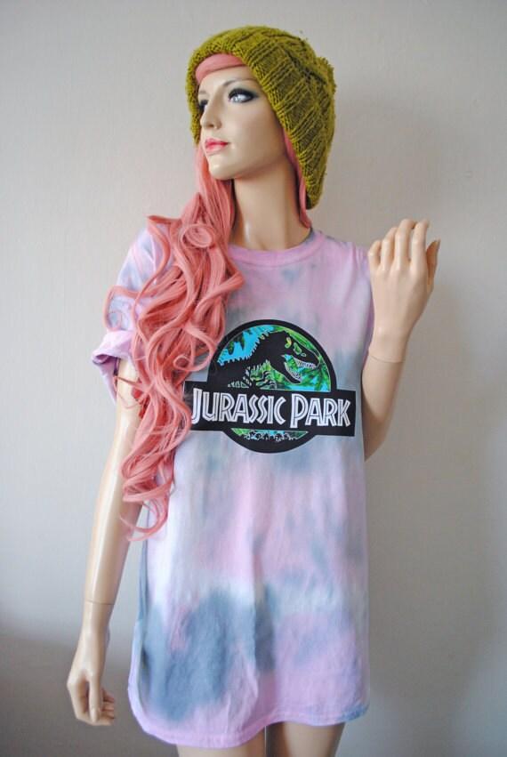 Jurassic Tie Dye T-Shirt hipster tumblr cute gift for her grunge oversized unisex