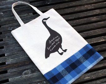 Goose Tote & Book Bag