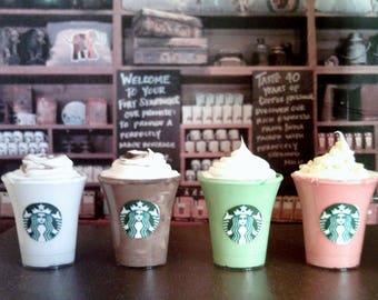 Four American Girl Sized Starbucks Frappucinno's