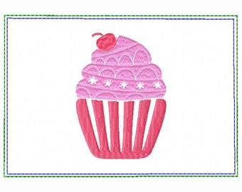 Cupcake Small Money Purse 01 - In The Hoop Machine Embroidery Design