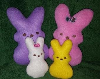 Marshmallow Bunny Stuffie Family 4x4 and 5x7