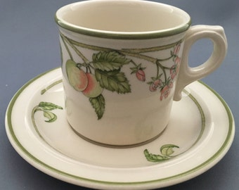 Wedgwood Wild Apple Granada Shape O.T.T. Tea Cup and Saucer.